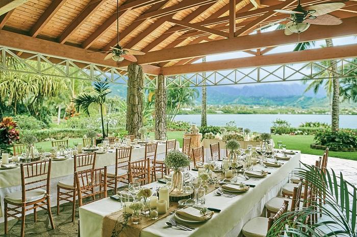 アロハ・ケ・アクア・チャペル(ハワイ)のガーデンパーティの内容と進行の流れ